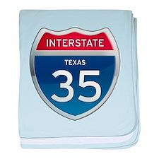 Interstate 35 - California baby blanket