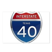 Interstate 40 - Texas Postcards (Package of 8)