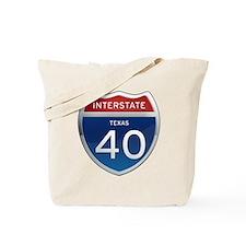 Interstate 40 - Texas Tote Bag