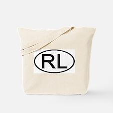 RL - Initial Oval Tote Bag