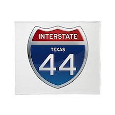 Interstate 44 - Texas Throw Blanket