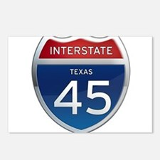 Interstate 45 - Texas Postcards (Package of 8)