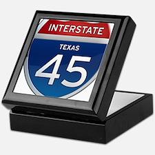 Interstate 45 - Texas Keepsake Box