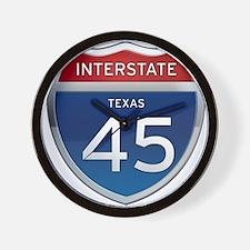 Interstate 45 - Texas Wall Clock