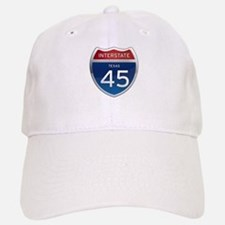 Interstate 45 - Texas Baseball Baseball Cap