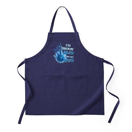 I'm Rockin' Blue for my Wife Apron (dark)