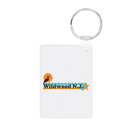 Wildwood NJ - Beach Design Aluminum Photo Keychain