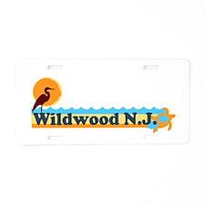Wildwood NJ - Beach Design Aluminum License Plate