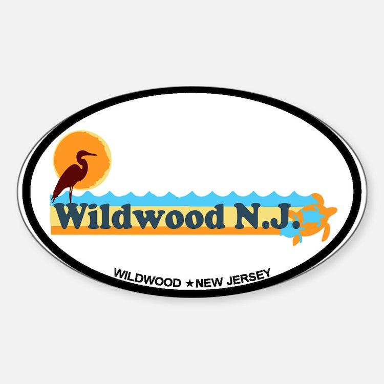 Wildwood NJ - Beach Design Decal