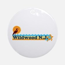 Wildwood NJ - Beach Design Ornament (Round)