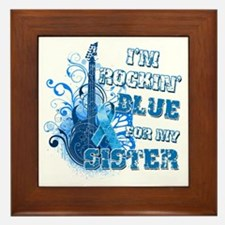 I'm Rockin' Blue for my Sister Framed Tile