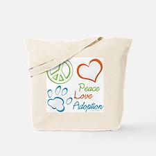 Peace Love Adoption Summer Tote Bag