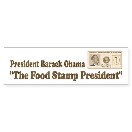 Anti Obama Food Stamps Sticker (Bumper)
