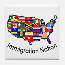 USA: Immigration Nation Tile Coaster