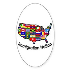 USA: Immigration Nation Oval Decal