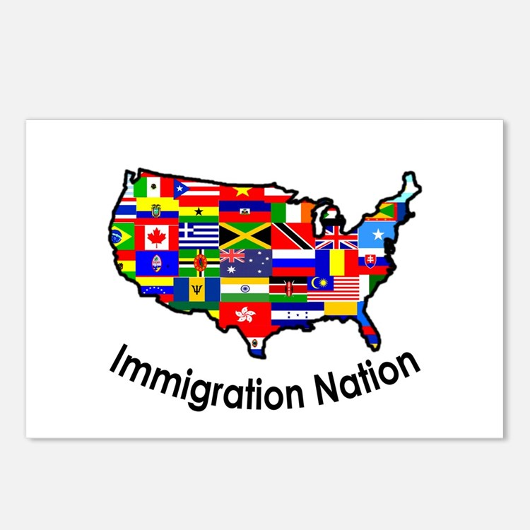 USA: Immigration Nation Postcards (Package of 8)