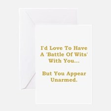 Battle Of Wits Greeting Card