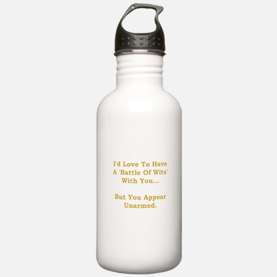 Battle Of Wits Water Bottle