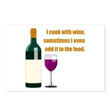 Wine Cook Postcards (Package of 8)