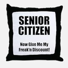 Senior Citizen Throw Pillow