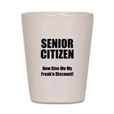 Senior Citizen Shot Glass