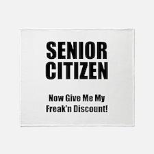Senior Citizen Throw Blanket