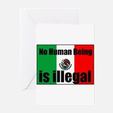 Human beings arent illegal Greeting Cards (Package