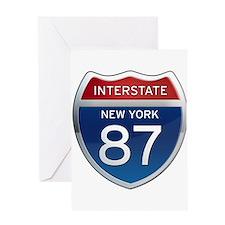 Interstate 87 - New York Greeting Card