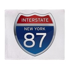 Interstate 87 - New York Throw Blanket