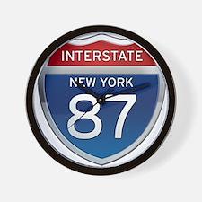 Interstate 87 - New York Wall Clock