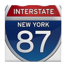 Interstate 87 - New York Tile Coaster