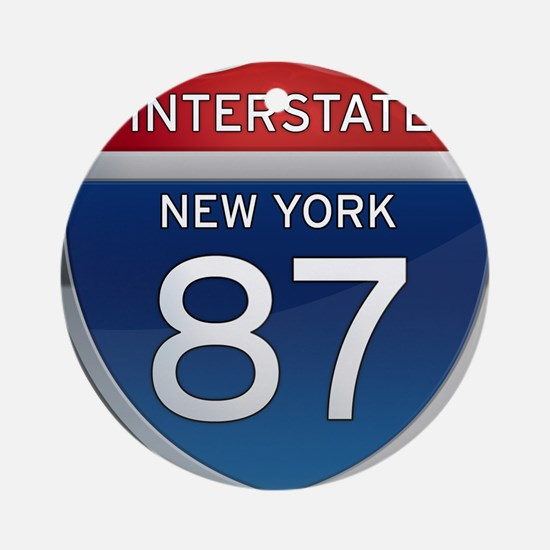 Interstate 87 - New York Ornament (Round)