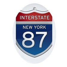 Interstate 87 - New York Ornament (Oval)