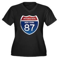 Interstate 87 - New York Women's Plus Size V-Neck