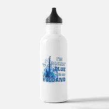 I'm Rockin' Blue for my Husband Water Bottle