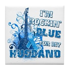 I'm Rockin' Blue for my Husband Tile Coaster