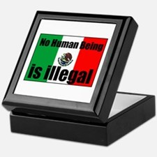 Human beings arent illegal Keepsake Box
