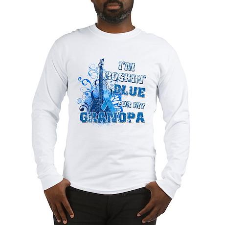I'm Rockin' Blue for my Grandpa Long Sleeve T-Shir