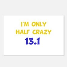 Half Crazy 13.1 Postcards (Package of 8)