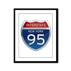 Interstate 95 - New York Framed Panel Print