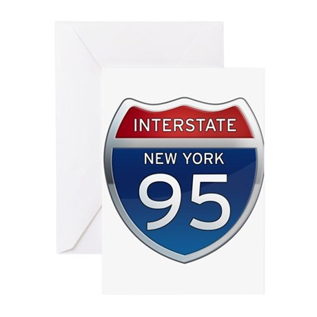 Interstate 95 - New York Greeting Cards (Pk of 10)