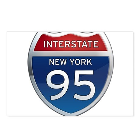 Interstate 95 - New York Postcards (Package of 8)