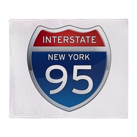 Interstate 95 - New York Throw Blanket