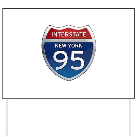 Interstate 95 - New York Yard Sign