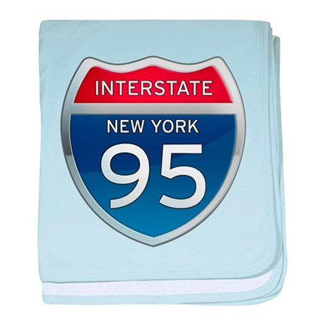Interstate 95 - New York baby blanket