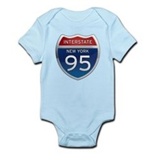Interstate 95 - New York Infant Bodysuit