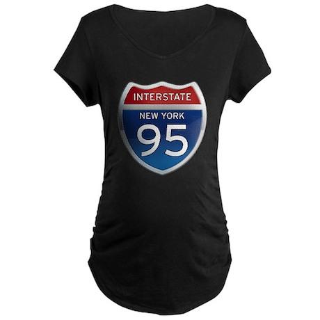 Interstate 95 - New York Maternity Dark T-Shirt