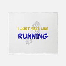 Felt Like Running Throw Blanket