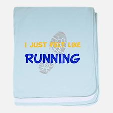 Felt Like Running baby blanket
