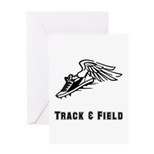 Track And Field Greeting Card